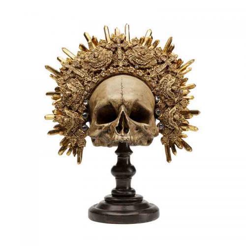 Skulptur Döskalle King