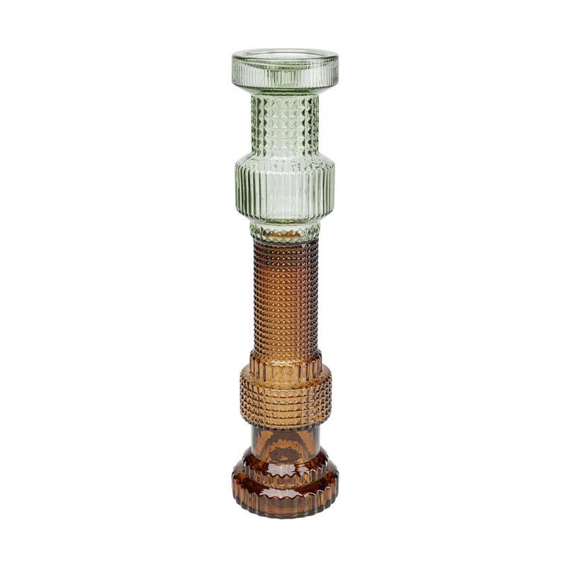 Ljusstake Block, Green Brown, 49 cm