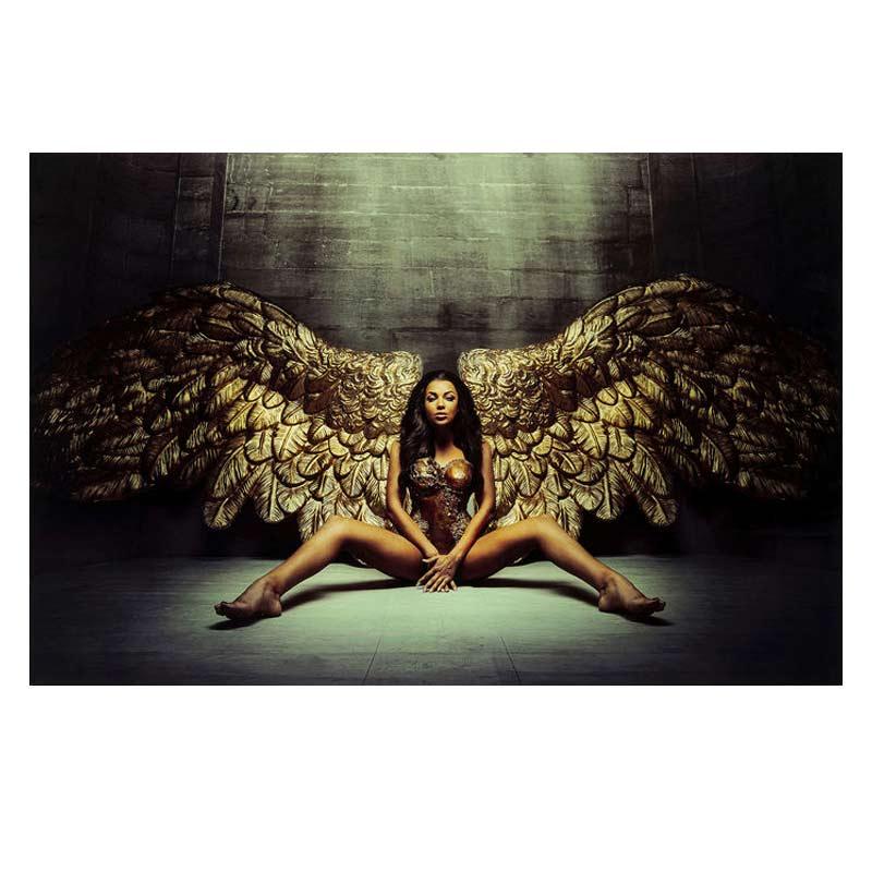 Glastavla Angelwings 80x120 cm