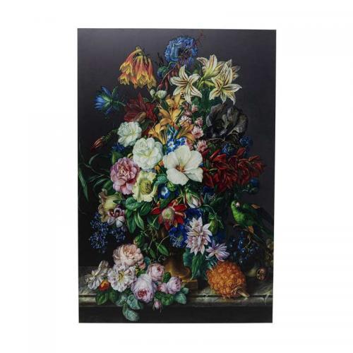 Glastavla Blombukett, 150x100 cm
