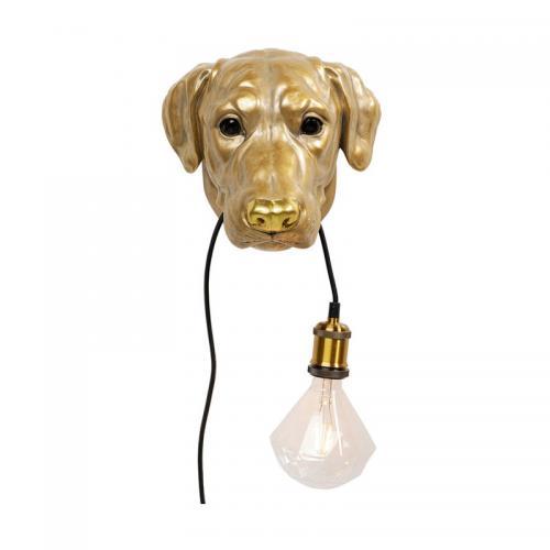 Vägglampa Hund Guld