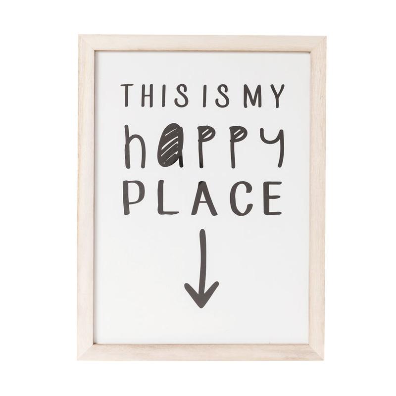 Tavla My Happy Place, 50x38 cm
