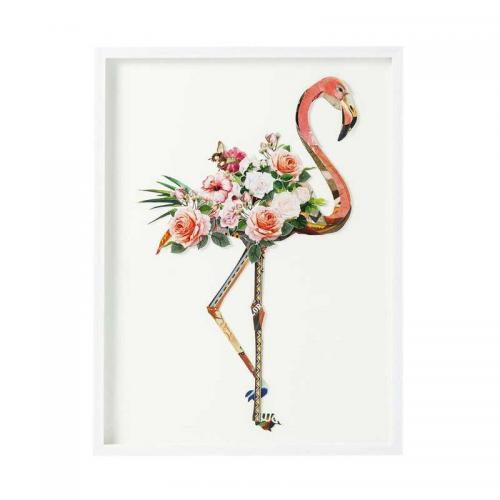 Tavla Flower Flamingo 3D, 100 cm