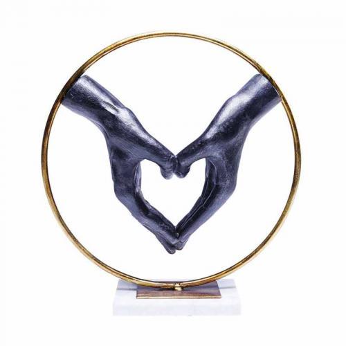 Dekor skulptur Heart Hand