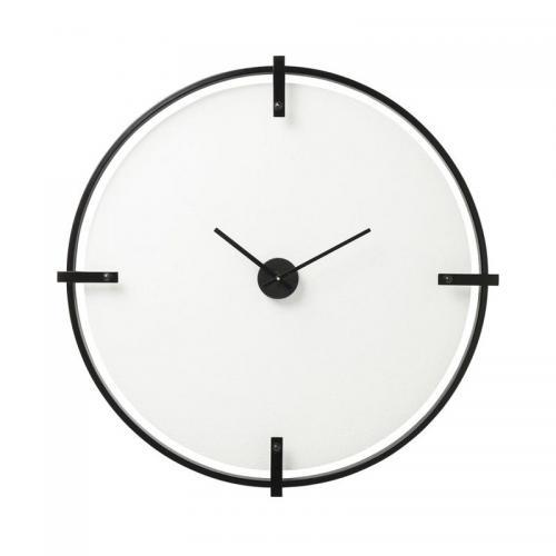 Väggklocka Minimalistic, svart 91 cmØ