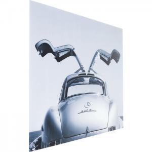 Glastavla Mercedes Gull-wing 160 cm.