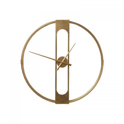 Väggklocka Tiden Guld 60 cm Ø