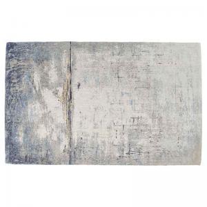 Matta Abstrakt Mörkblå, 240x170 cm