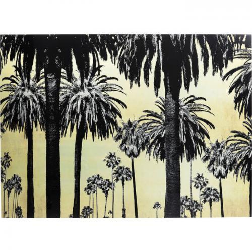 Glastavla Metallic Palms