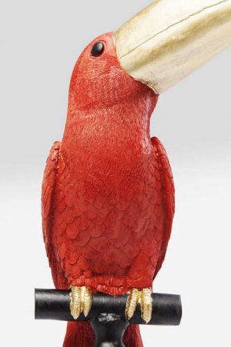 Dekor Figur Röd Tukan 114 cm.