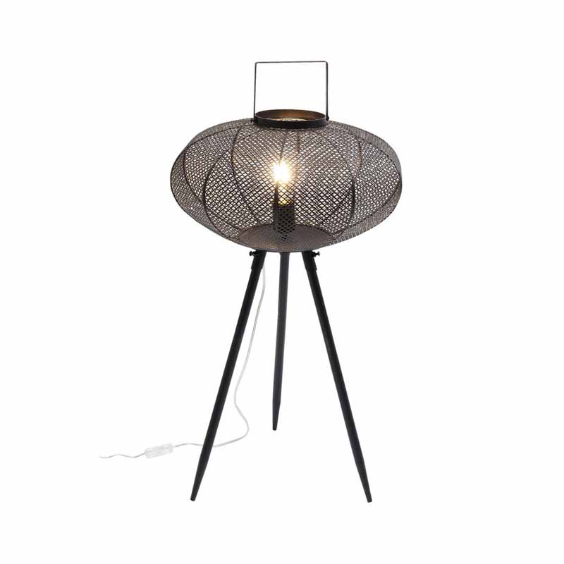 Golvlampa Ufo, svart