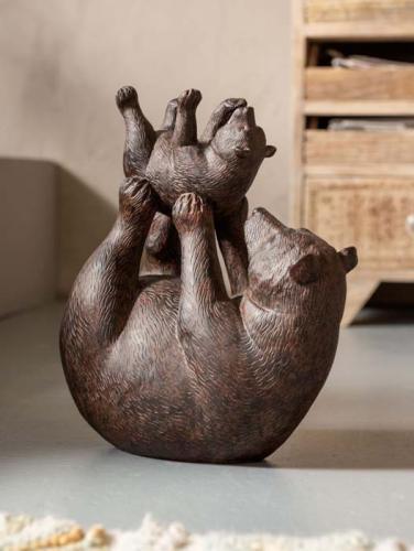 Skulptur Björnlek, 29 cm