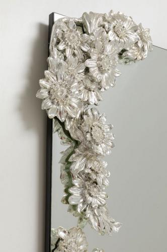 Spegel Fiore, silver 160x80cm
