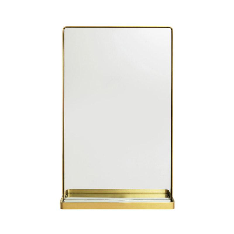 Spegel med hylla Clean Mässing, 80 cm