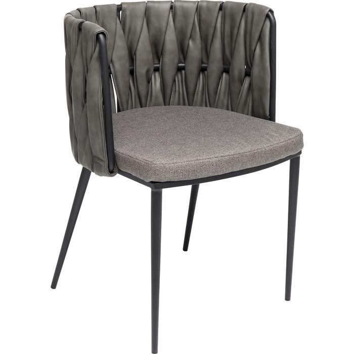 En snygg grå stol i kreativ och elegant design - som matstol och konferensstol.