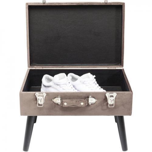 Pall Suitcase med förvaring, Brun