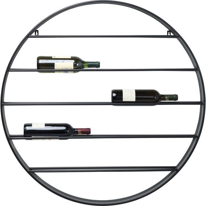 En annorlunda, läcker vägghylla för vin och andra flaskor