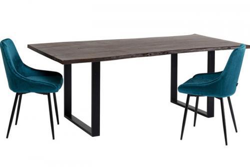 Matbord Harmony Mörkt Trä, Svart, 160 cm
