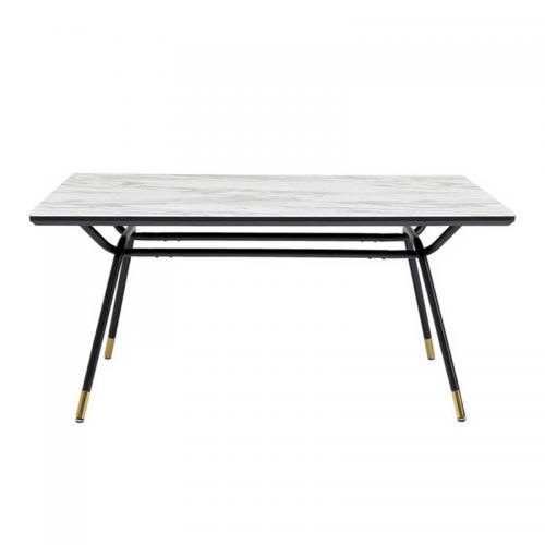 Matbord Mörkt träMetall 160cm Reforma Sthlm