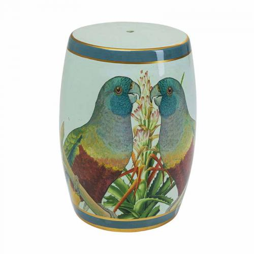 Pall |Sidobord Parrots, porslin 49 cm