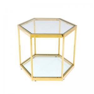 Sidobord Hexagon guld, 45 cm