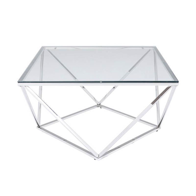 Soffbord Silver Lining 80x80 cm