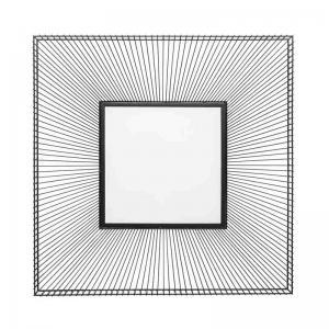 Spegel Dimension, svart 91x91 cm