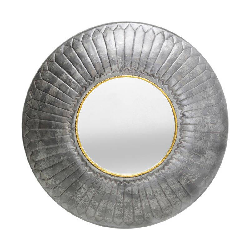 Spegel Ornament i Stål, 115 cm Ø
