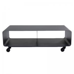 Tv-Bänk Lounge Grafitgrå, på hjul