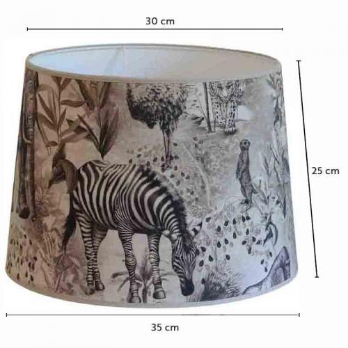 Lampskärm Ubangi Grå-beige 35 cmØ