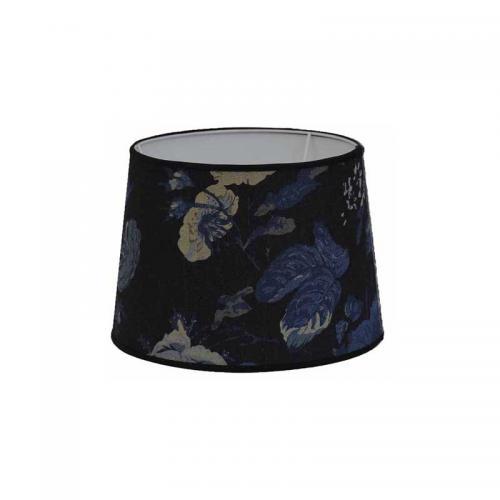 Lampskärm Floral blå indigo 24 cmØ