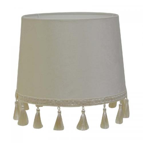Lampskärm Tazzle, offwhite sammet