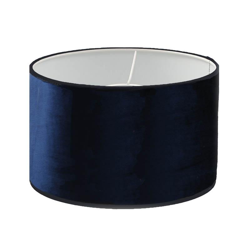 Lampskärm Cylinder Sammet mörkblå