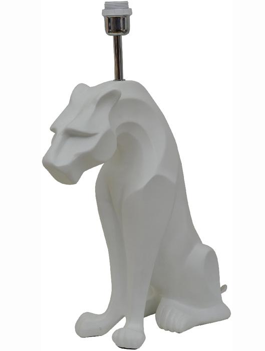 En eye-catcher och läcker belysning är denna vita panter-lampa!