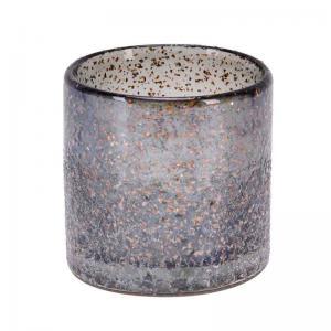 Ljuslykta Lilly Blå-grå-guld, 8 cm