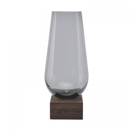 Vas Podium Glas, dimgrå 43 cm