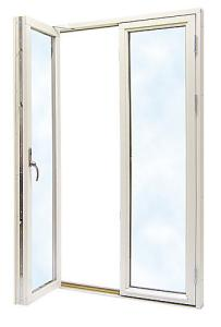 Fönsterdörr 14 x 21, Alu, Vit