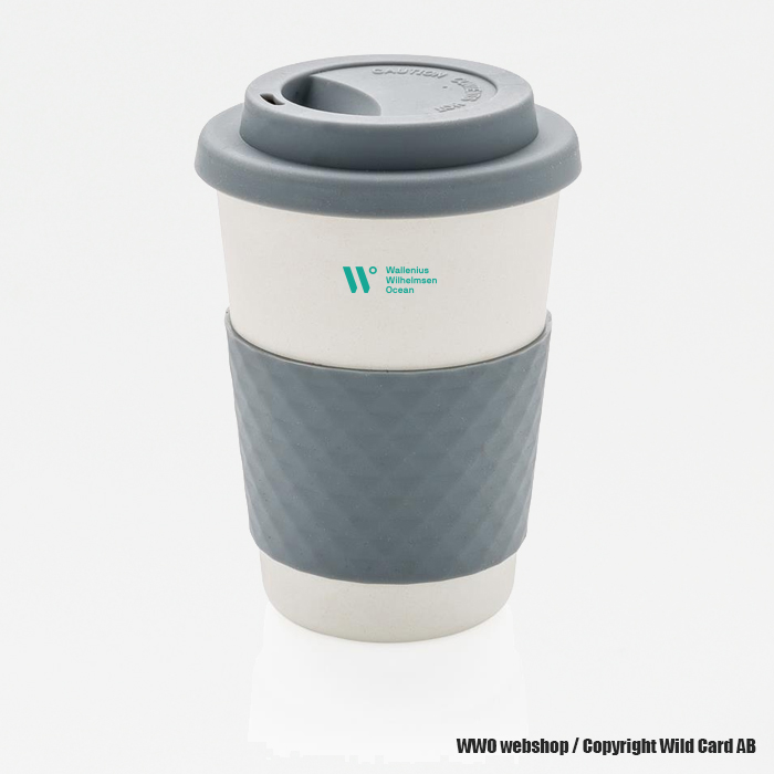 ECO Bamboo fibre coffee cup.