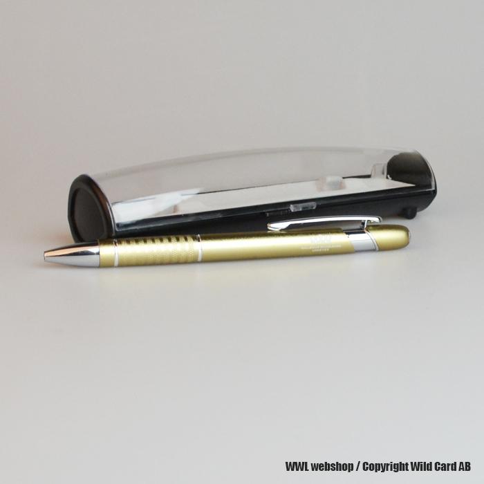 Gold pen in aluminium with a giftbox