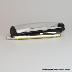 Gold pen in aluminium with a giftbox