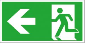 Utrymningsskylt ISO pil vänster| Everglow.se