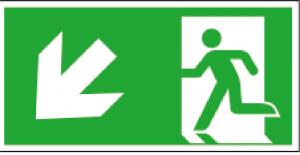 Utrymningsskylt ISO vänster ner| Everglow.se