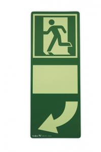 Efterlysande dörrmarkering med pil