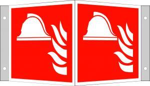Brandredskapskylt vinkel