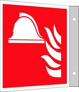 Brandredskapskylt flagg