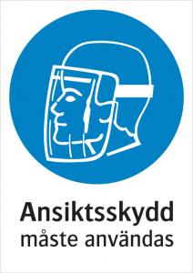 Påbudsskylt Ansiktsskydd | Everglow.se