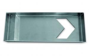 Schablon pil, av aluminium Pil:90x95 mm