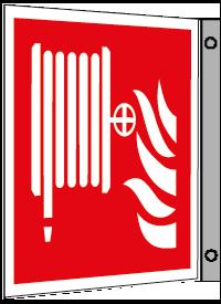 Brandpostskylt flagg