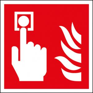 Efterlysande brandlarmsskylt
