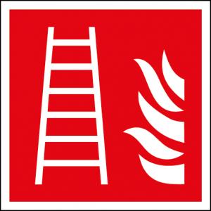 Efterlysande brandstegsskylt